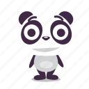 amused, content, happy, panda, pleased, smile icon