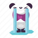 crying, panda, sad icon