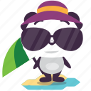 beach, panda, summer icon