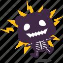 electric, panda, shocked icon