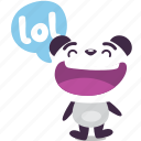 laugh, lol, panda icon