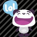 laugh, lol, panda icon