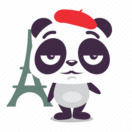 france, panda, paris icon