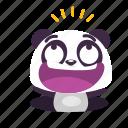 failure, falling, hole, panda icon