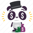 capitalist, finance, money, panda icon