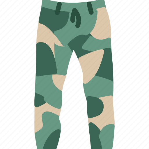 camouflage, clothes, pants icon