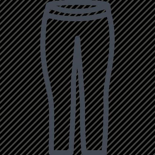 clothes, leggins, line, outline, pants icon