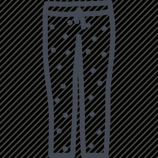 clothes, line, outline, pajama, pants icon