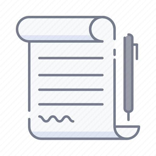 paper, papers, pen, signature, write icon