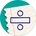 division, math, percent, rate, sign icon