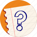 help, interrogation, query, question icon