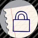 block, lock, locked, password, security icon