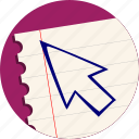 arrow, click, cursor, mouse, pointer icon