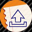 arrow, export, load, save, storage, up, upload