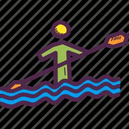 canoe, olympics, paddle, paralympic, paralympics, sprint, water icon