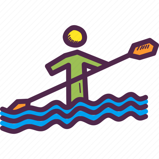 Canoe, olympics, paddle, paralympic, paralympics, sprint, water icon - Download on Iconfinder