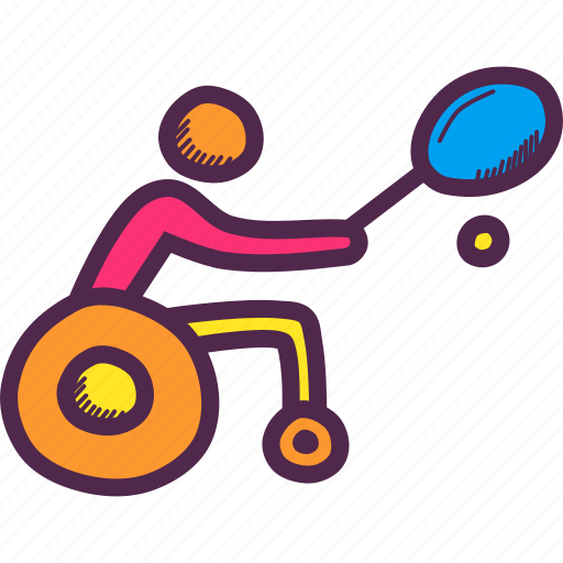 Disabled, games, olympics, paralympic, paralympics, tennis, wheelchair icon - Download on Iconfinder