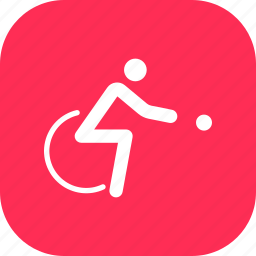 boccia, disabled, games, olympics, paralympic, paralympics, wheelchair icon