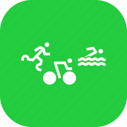 athletics, cycling, olympics, paralympic, paralympics, swimming, triathlon icon