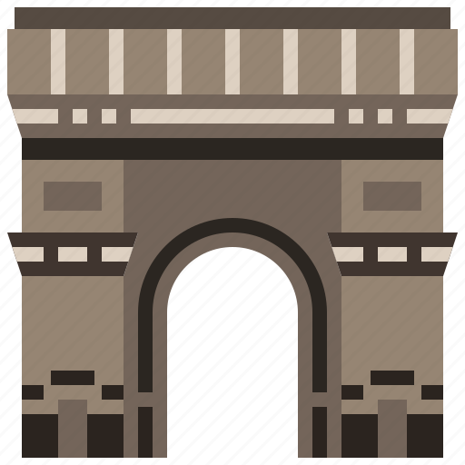 arc, france, landmark, paris, travel, triomphe icon