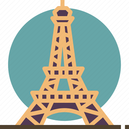 eiffel, france, landmark, paris, tower, travel icon