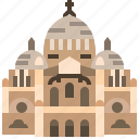 basilica, catholic, church, france, paris, sacre icon