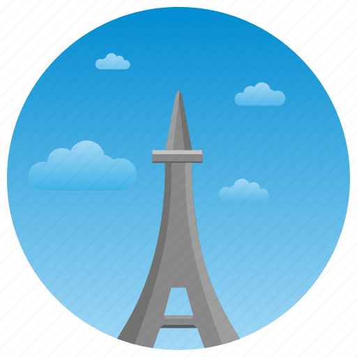 eiffel, france, landmark, monument, paris, tower, travel icon
