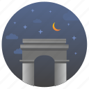 france, landmark, monument, night, paris, travel icon