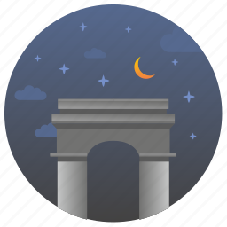 france, landmark, monument, night, paris, travel icon