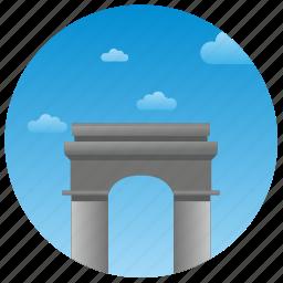 architecture, france, monument, paris, travel icon