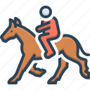 competition, gallop, horse, horseman, mustang, playground, ride