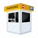 building, construction, house, office, parking, security, staff icon