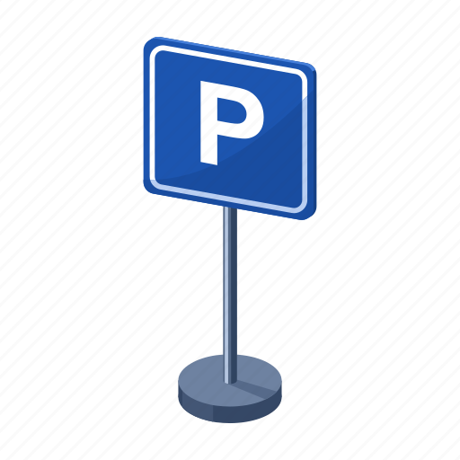 letter, parking, pointer, road, sign icon