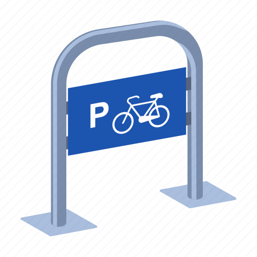 bicycle, parking, pointer, sign icon