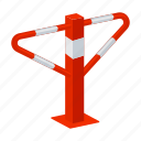 construction, equipment, parking, passage, prohibition, turnstile icon