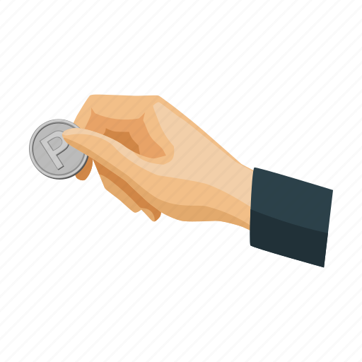 business, coin, hand, parking, payment, service icon