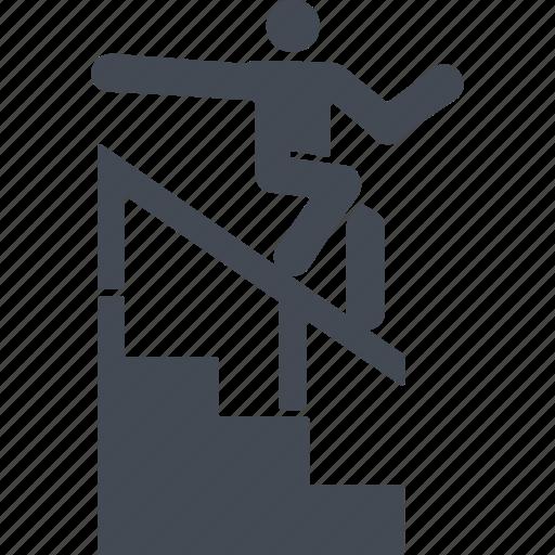let, outdoor sport, parkour, parkurist icon
