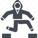 parkour, parkurist, running with obstacles, sport