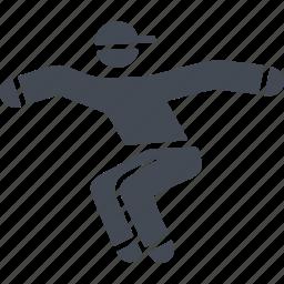 parkour, parkurist, sport, tricks icon