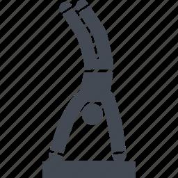 jumping, let, parkour, parkurist icon