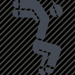 parkour, parkurist, sport, sports stunts icon