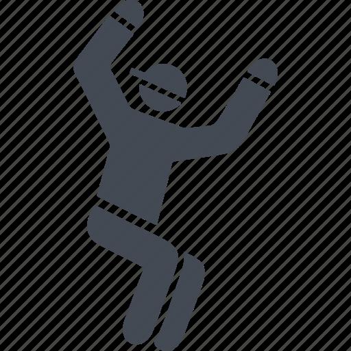jumping, parkour, parkurist, sports stunts icon