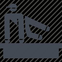 let, parkour, parkurist, street sport icon
