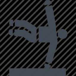 jumping, let, parkour, parkurist, street sport icon