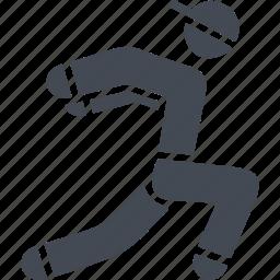 kind of sport, obstacles, parkour, parkurist icon