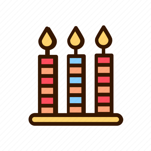 birthday, candle, celebration, event, party icon