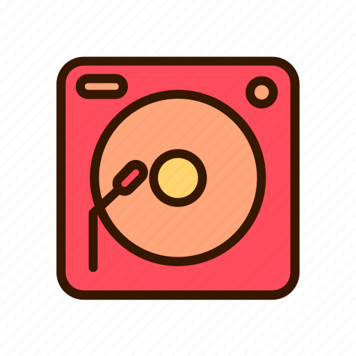 birthday, celebration, event, music, party, turn table icon