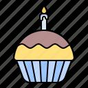 birthday, party, cupcake