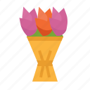 blossom, botanical, bouquet, flowers, nature, tulip icon