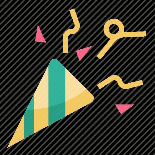 birthday, celebration, confetti, fun, new, party, year icon